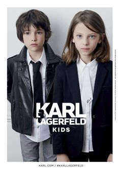 Rock'n'roll leathers and tailored blazers for Karl Lagerfeld kids fashion launch spring 2016