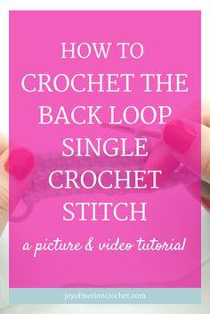 How to crochet the back loop single crochet stitch |Back Loop Crochet |Back Loop Crochet Stitches |back loop single crochet |basic crochet stitches |Beginner Crochet Stitches |crochet |crochet instructions |crochet stitch |Crochet Stitch For Beginners |crochet stitches guide |crochet stitches tutorial |Different Crochet Stitch |easy crochet stitch |how to do crochet stitches |interesting crochet stitches |Pretty Crochet Stitch | single crochet stitch| Textured Crochet Stitch…