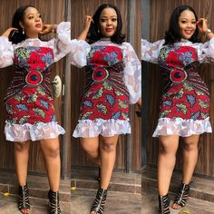 2018 African Short Gown for Pretty African Ladies  -  DeZango Fashion Zone