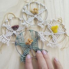 Fall macrame floral ornament / Make your own macrame / DIY