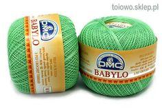 kordonek zielony - Babylo DMC, rozmiar 20