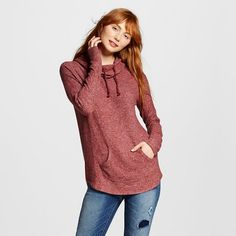 Women's Brushed Cowl Neck Leisure Top - Mossimo Supply Co.™ (Juniors') : Target