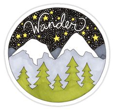 Wanderlust: say yes to new adventures! / An original copic marker and pen drawing. • Also buy this artwork on stickers, apparel, phone cases, and more.