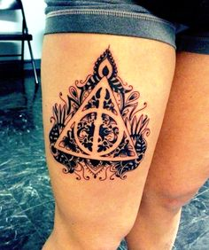 Deathly Hallows tattoo! So cool!