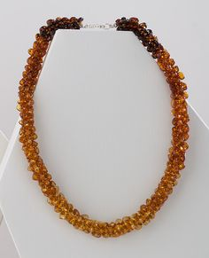 Woven Amber Necklace, Necklaces, Jewelry - The Museum Shop of The Art Institute of Chicago