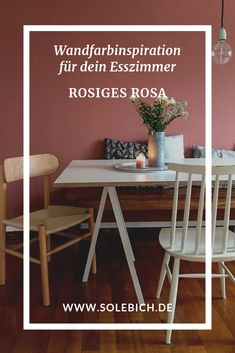 Wandfarbe Altrosa & Rosa – Die schönsten Ideen We show you the most beautiful design ideas with the wall color Altorsa & Rosa ❤ Let yourself be inspired by great apartments with old pink walls! Bedroom Decor, Decor, Wall Painting, Wall Colors, Household Furniture, Purple Wall Paint, Furniture, Pink Walls, Apartment Decor