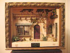 Queen's Head Tavern- Miniature Roombox  2003 -Full Front View Vitrine Miniature, Miniature Rooms, Miniature Crafts, Miniature Houses, Miniature Furniture, Box Frame Art, Box Art, Diy Dollhouse, Dollhouse Miniatures