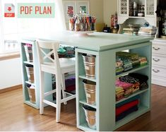 Craft Tables With Storage, Craft Room Tables, Craft Room Storage, Table Storage, Storage Ideas, Craft Show Table, Drawer Ideas, Sewing Craft Table, Craft Desk