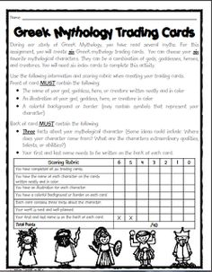 Teaching with Blonde Ambition: April 2012.                                                  Greek trading card rubric