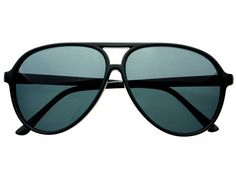 Picture of Large Polarized Aviator Sunglasses in Black A361