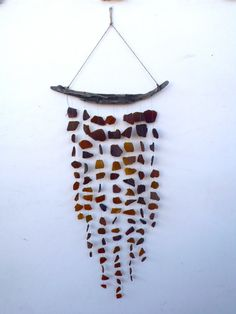 Items similar to Sea Glass & Driftwood Mobile / Suncatcher - Beer Bottle Brown and Amber -RESERVED- on Etsy Driftwood Mobile, Driftwood Beach, Suncatchers, Sea Glass, Art Lessons, Creative Art, Wind Chimes, Farmhouse Decor, Classroom Websites
