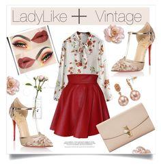 """LadyLike + Vintage"" by anabritt on Polyvore featuring moda, Funlayo Deri, Christian Louboutin, Dolce&Gabbana, Simply Vera e vintage"