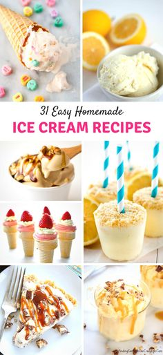 Get ready to celebrate summer with these 31 Easy Homemade Ice Cream Recipes. #Foodie #Dessert #IceCream