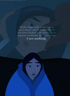 """Mushu: """"Hey, that's just cause this needs a little spit, that's all. [He spits on the helmet.] Let me shine this up for you. I can see you, lookit you, you look so pretty! Arte Disney, Disney Magic, Disney Art, Mulan Quotes, Disney Quotes, Disney Princess Quotes, Princess Art, Disney And Dreamworks, Disney Pixar"""