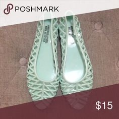 NEW! American Apparel Jelly Baby Blue Flats Fabulous baby blue flats for summer!! Give your summer outfit a cute & flirty look! New! Size: 6 American Apparel Shoes Flats & Loafers
