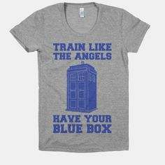 Train Like The Angels Have Your Blue Box | HUMAN | T-Shirts, Tanks, Sweatshirts and Hoodies