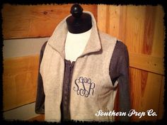 A personal favorite from my Etsy shop https://www.etsy.com/listing/160470954/tuesday-sale-monogrammed-ladies-fleece