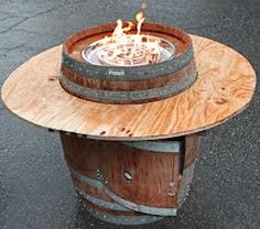 Wine barrel furniture.