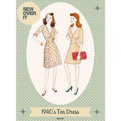 Schnittmuster: 1940's Tea Dress