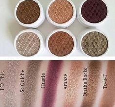 Colorpop eyeshadow swatches