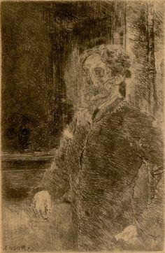 My Portrait as Skeleton (Mon portrait squelettisé), 1889  Pencil and Ink on paper,  12 x 8 cm