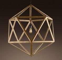 Wood Polyhedron Pendant Large