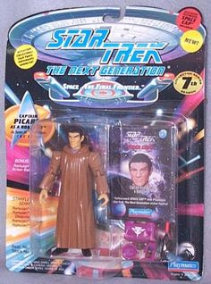 Action Figure Star Trek TNG Next Generation Picard as Romulan approx 4.5 inch