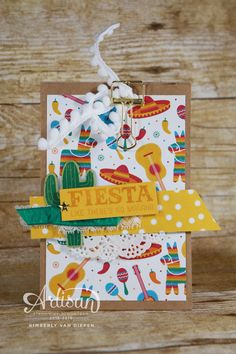 Planning a Fiesta? Click to create easy party favors and a quick thank you card for guests.  StampinByTheSea.com - Cultivating Inspiration & Creativity