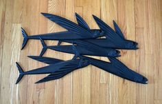 Vintage Mid Century Modern Flying Fish Wall by saltandginger, $228.00