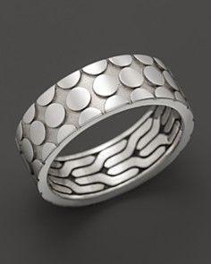 John Hardy Men's Dot Silver Band Ring_0