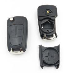 Flip Key Shell Fit Voor Opel Astra H Corsa D Vectra C Zafira met Nieuwe Vauxhall Opel LOGO 2 Knop Vouwen Afstandsbediening Key Case Fob