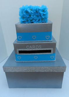 turquoise wedding card box - Bing Images