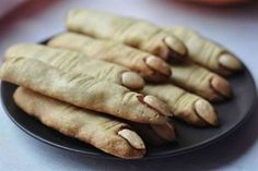 Zombie Party - shortbread cookies? Looks gross, but it's cool for a halloween food