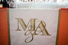 MAYRA & AJA - WEDDING - Bar Runner (my favorite detail of their wedding)
