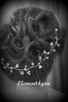 Vides de pelo nupcial accesorio del pelo de novia marfil