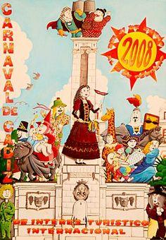 Cartel Carnaval de Cadiz año 2008