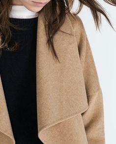 LONG COAT from Zara Zara Spain, Waterfall Jacket, Langer Mantel, Zara Women, Outerwear Women, Style Me, Bell Sleeve Top, Style Inspiration, Chic