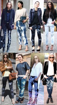 Fall Crave: Tie Dye/Bleached Jeans
