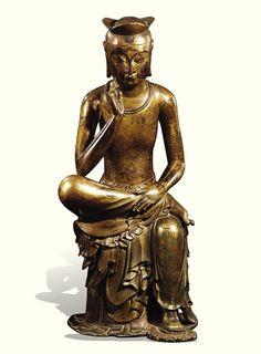 [Three Kingdoms Period (Early 7th century)] Pensive Bodhisattva