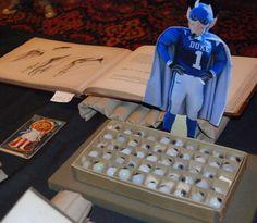 Flat Blue Devil visits Duke Libraries' Halloween event