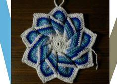 Estrella con cadenetas de 9 puntas en crochet - Patrones Crochet