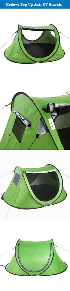 Modovo Pop Up Anti UV Sun-shade Tents For Camping 3 Person (Green). Product Description Thank you for choosing Modovo tent, we hope it bring you great usage experience. Specification: Brand: Modovo Size:95 (L)*71(W)*40 (H) in Lining: 190T,resistant to water pressure ≥ 1500W/R Bottom: Oxford cloth,2000-3000mm waterproof Frame poles: 6mm glass fiber Pole Features: larger space, stable structure, suitable for beach, lake, parks and other places Dear customer, We have crafted Modovo brand…