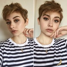 Pixie Hairstyles, Cool Hairstyles, Punk Pixie Haircut, Pixie Haircuts, Hair Inspo, Hair Inspiration, Shaved Head, My Hairstyle, Cut My Hair