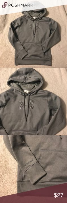 Worn Once, Under Armour Hoodie Beautiful gray with silver detail Under Armour Jackets & Coats
