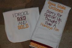 Iowa State Burp Cloth and Bib