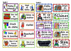 Spraoi online - all kinds of posters and charts in Irish/Gaeilge Gaelic Words, Irish Language, 5th Class, Montessori Preschool, Primary Teaching, Irish Celtic, Infants, Languages, Elementary Schools