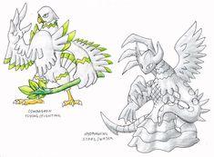 """Garuda Pokemon 243-Garaday (Garuda-Faraday) -Electric/Dragon -Thunder Spirit Pokemon -""""-'...Up in the cloudy mountains, where the lighting strikes the ground, Rise the spitit of the thundersto..."""