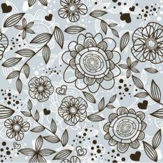 Grey Floral Pattern Background