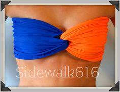 I need this orange and blue bandeau from Etsy.com!!! #floridagators #bandeau