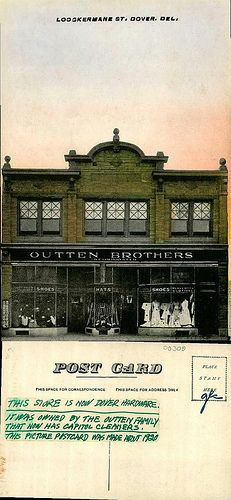 Loockermane St. Dover. Del., Outten Brothers by Delaware Public Archives, via Flickr